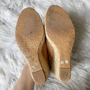 Michael Kors Shoes - KORS Michael Kors Bleeker Leather Espadrille Wedge